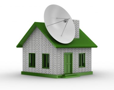 Satellite Dish On House