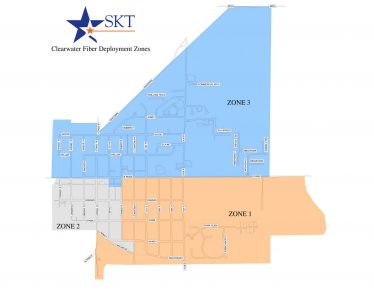 SKT FTTP CLEARWATER MAP
